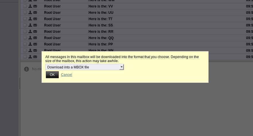 Horde Email Export