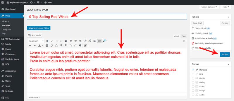 Create New Blog Post