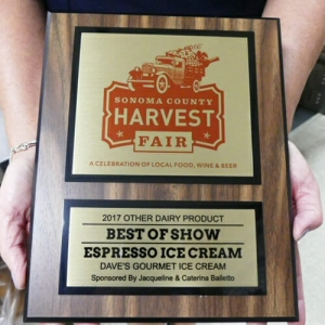 Sonoma County Harvest Fair Award 2017 - Best Espresso Ice Cream