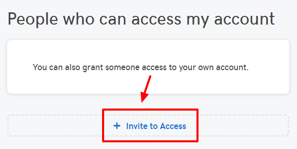 Invite access to GoDaddy account