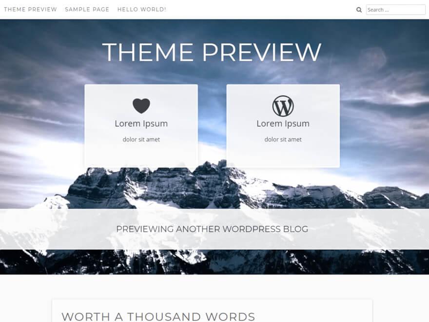 Aaron ADA WordPress Theme