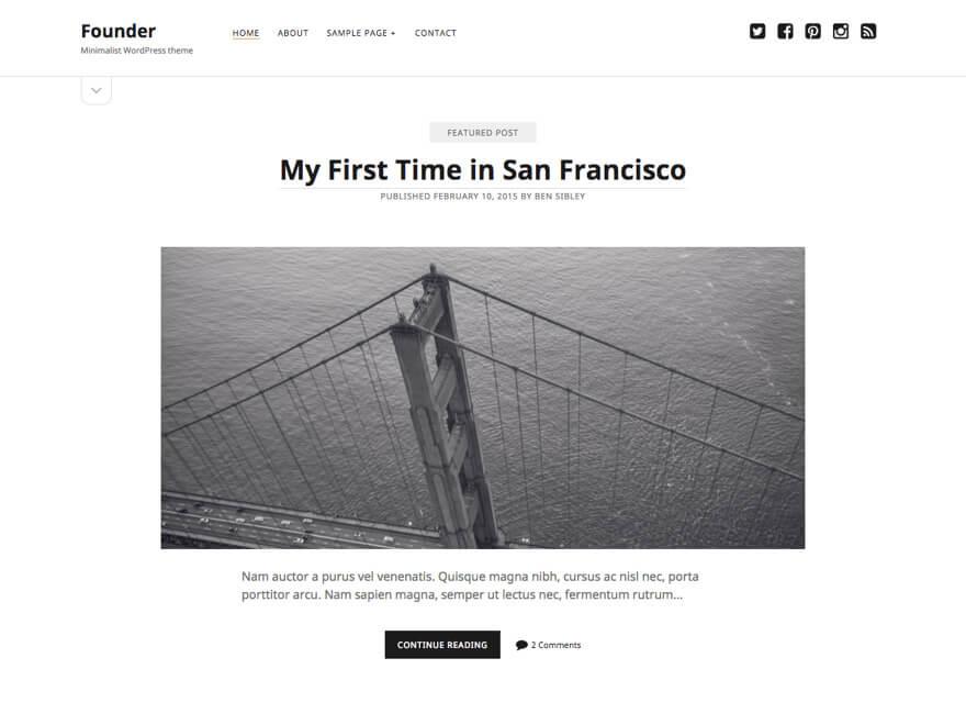 Founder ADA WordPress Theme