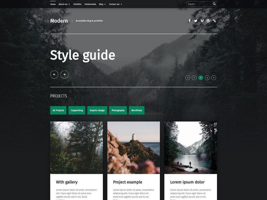 Modern ADA WordPress Theme