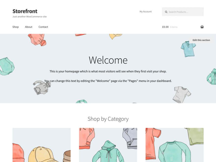 Storefront ADA WordPress Theme