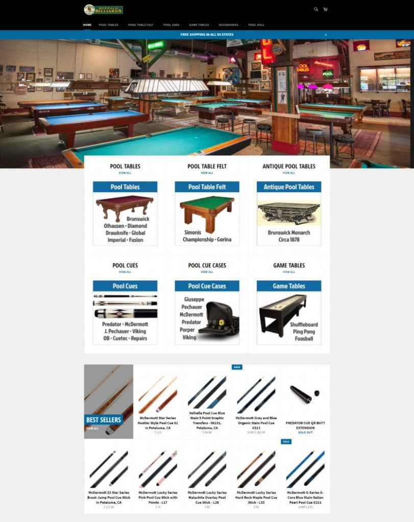 Link to Buffalo Billiards eCommerce Store