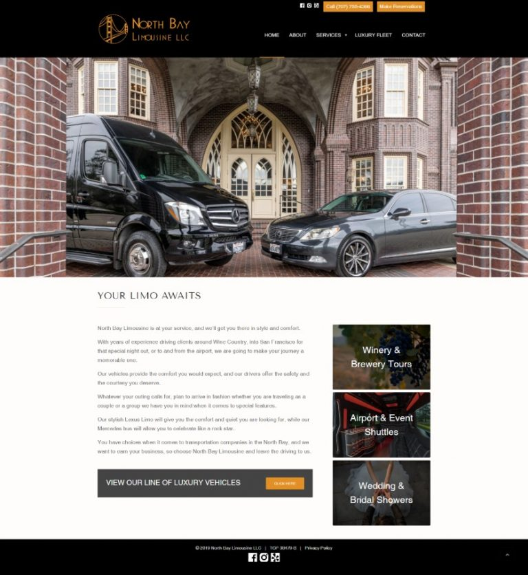 Link to North Bay Limo Website