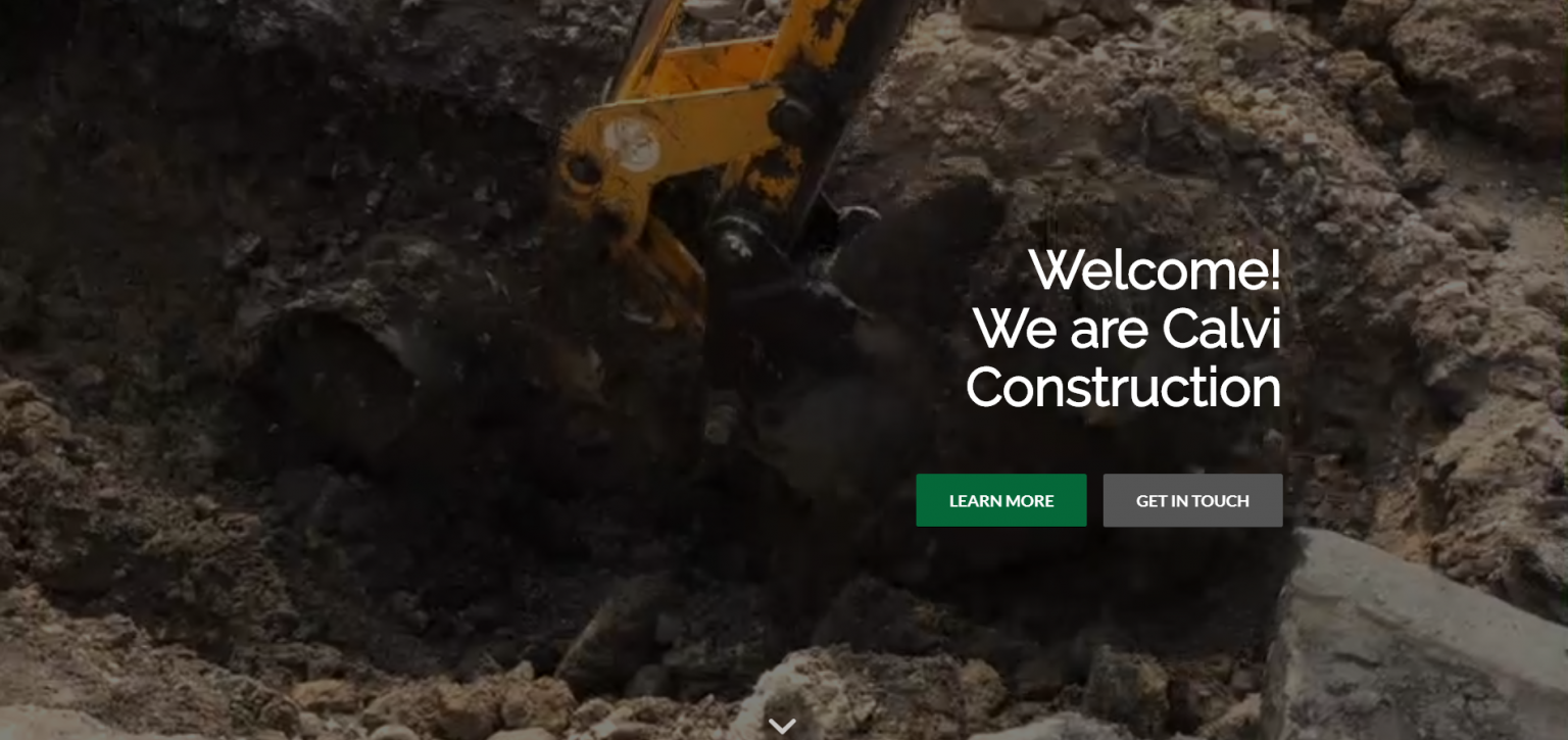 Link to Calvi Construction Web Design