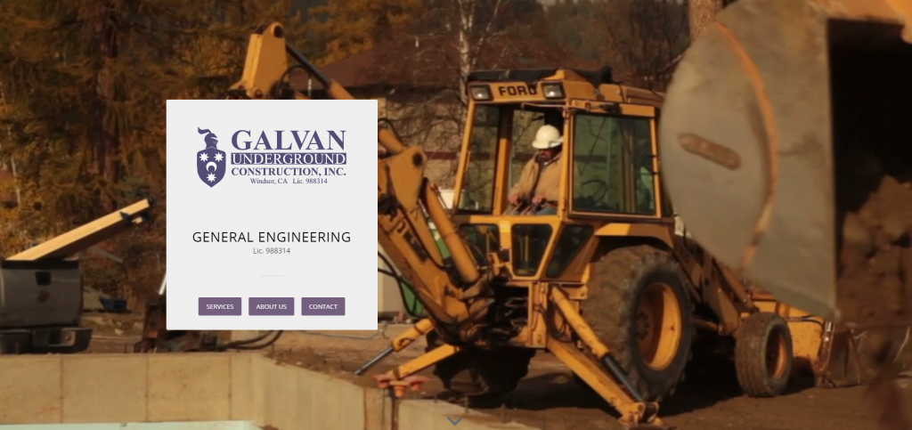 Link to Galvan Construction Web Design