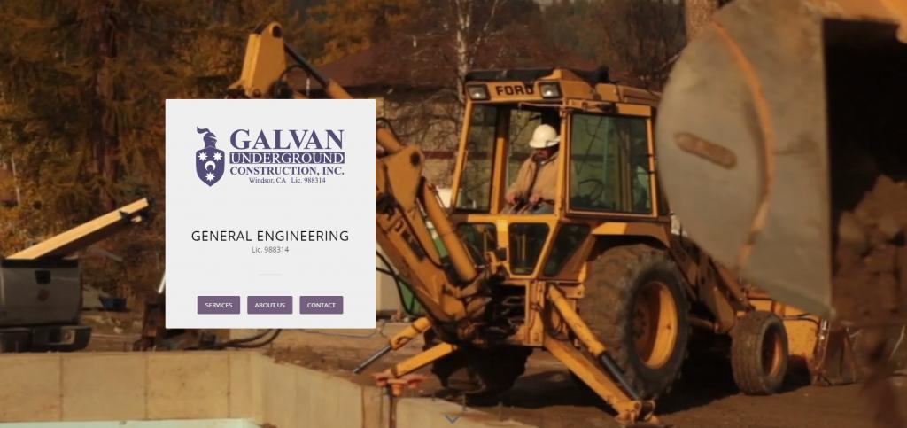 Link to Galvan Construction Web Design