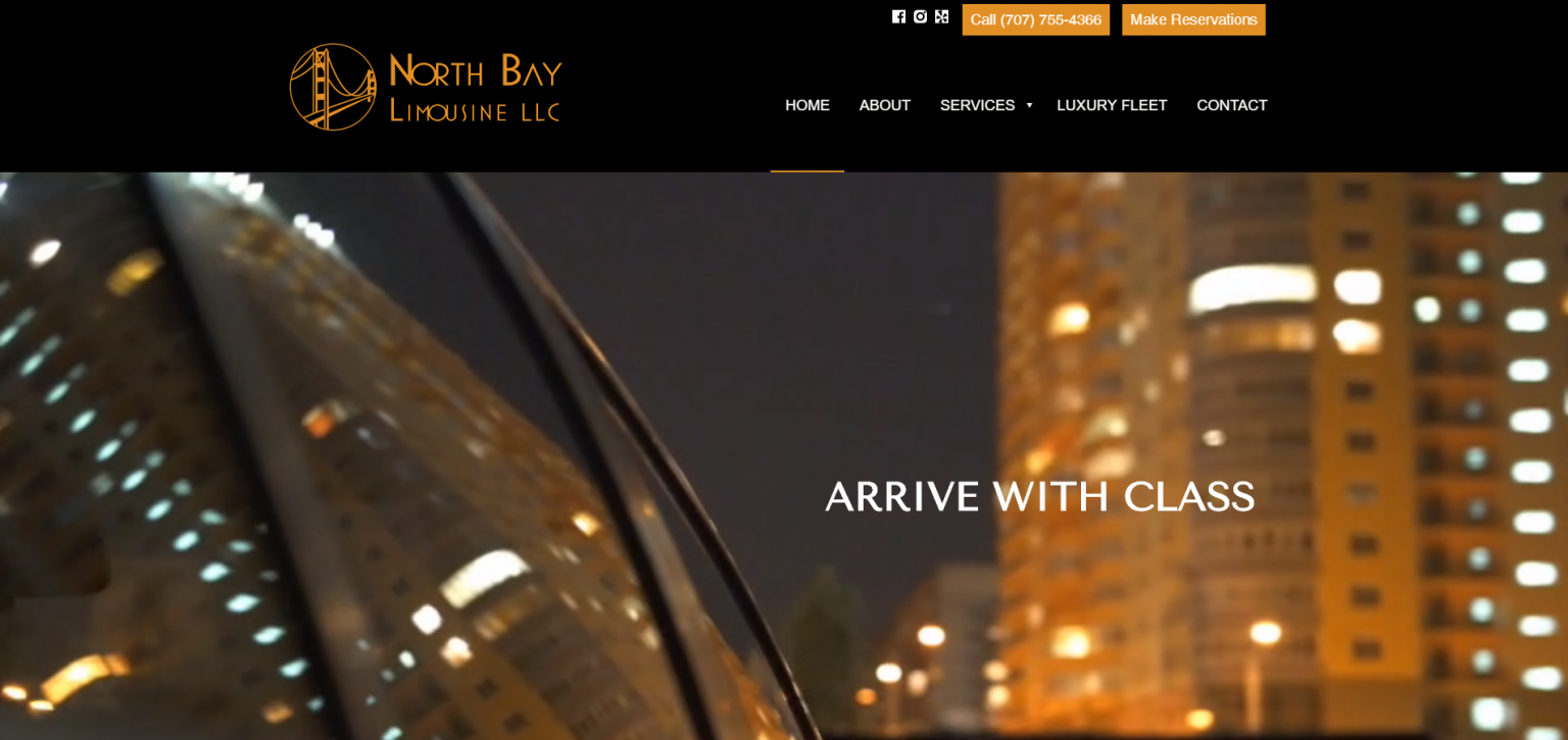 Link to Limo Services Web Design
