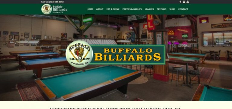 Link to Pool Hall Web Design