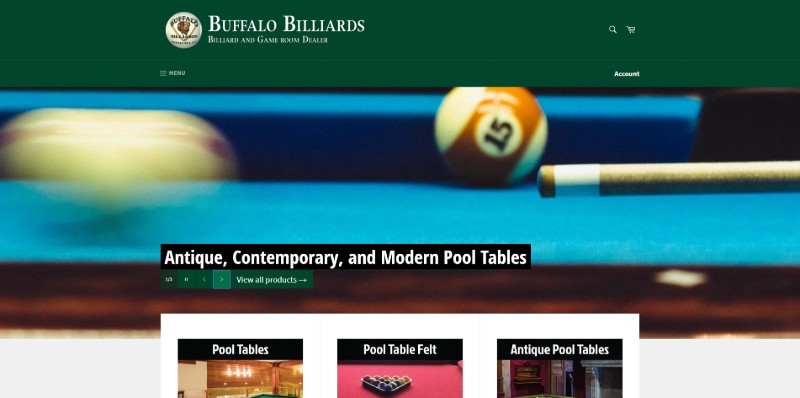 Link to Shopify Site for Billiards Supply