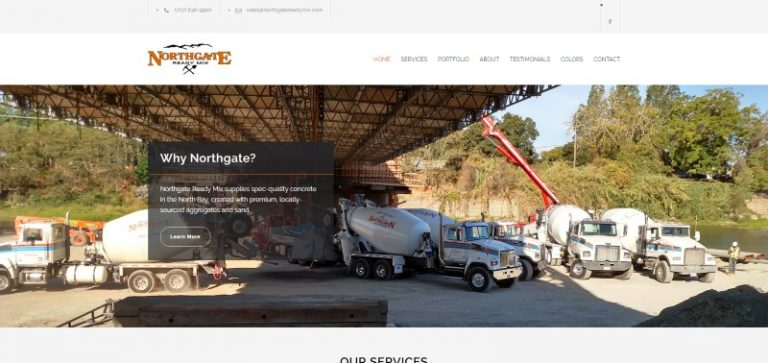 Link to Northgate Ready Mix Construction Web Design