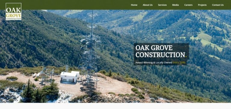 Link to Oak Grove Construction Web Design