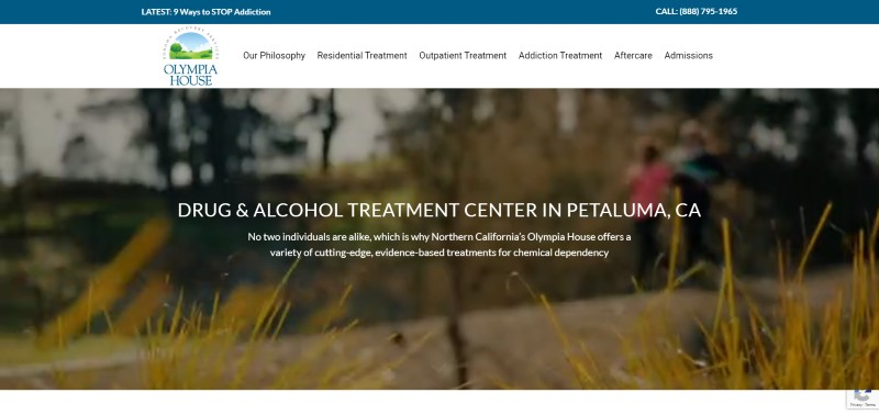 Link to Rehabilitation Center Web Design