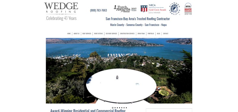 Link to Wedge Roofing Construction Web Design
