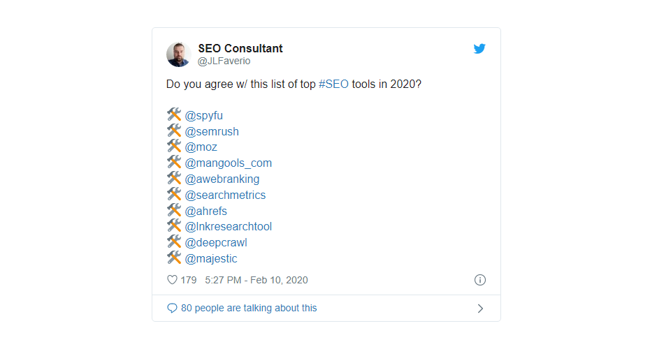list of top seo tools