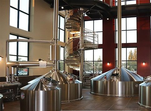 Russian River Brewery beer brewing area